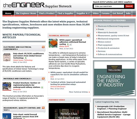 The Engineer Supplier Network