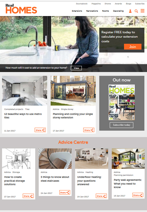 Real Homes Website